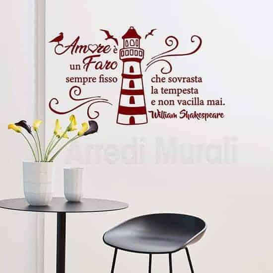 Decorazioni pareti con citazione rosso