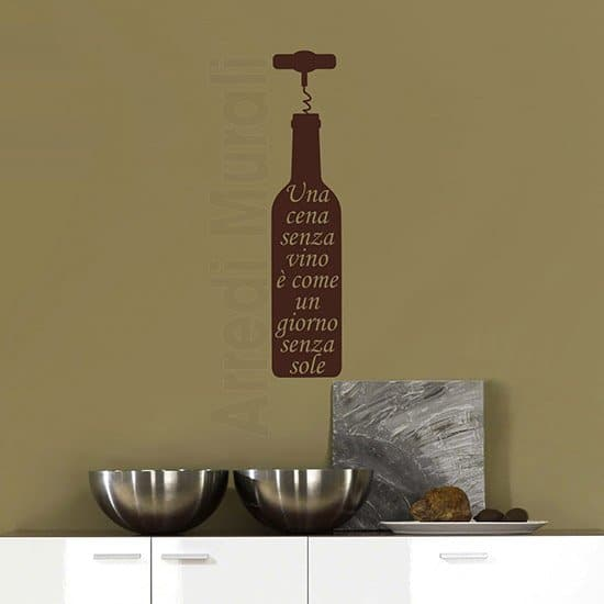 Idea decorativa adesiva vino marrone
