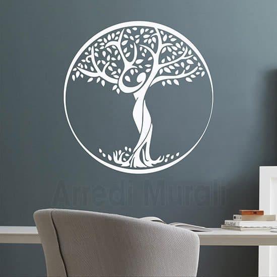 Sticker da parete Albero della Vita bianco