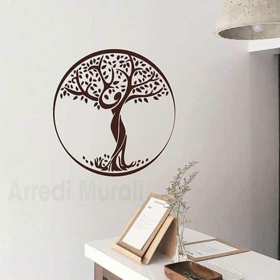 Sticker da parete Albero della Vita marrone