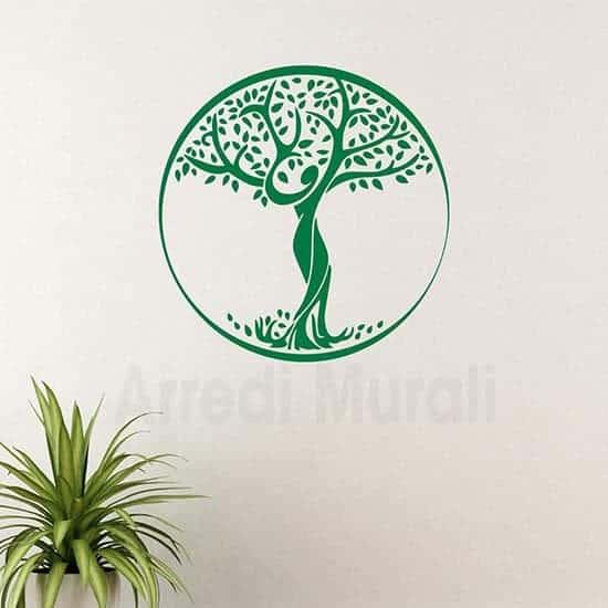 Sticker da parete Albero della Vita verde