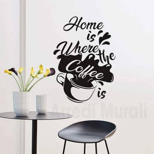 Sticker da parete coffee nero