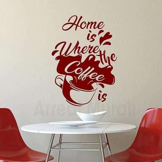 Sticker da parete coffee rosso
