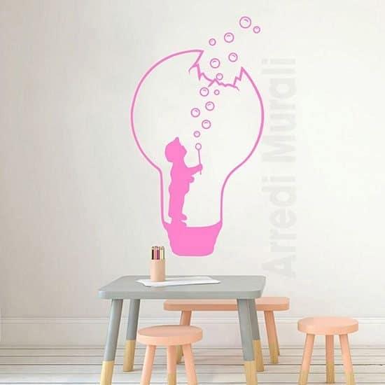 Stickers di fantasia per bambini rosa