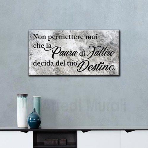 Tela moderna con frase motivazionale stampato su tela