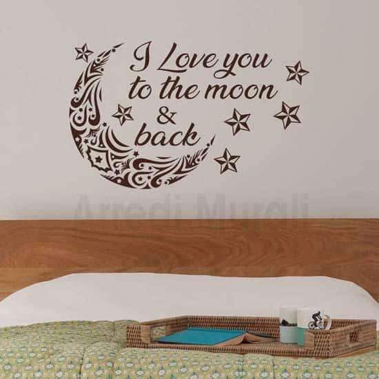 Adesivi murali decorazione pareti camere da letto marrone
