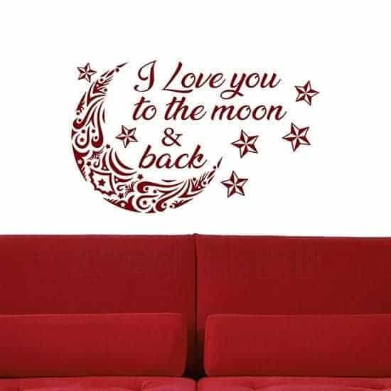 Adesivi murali decorazione pareti camere da letto rosso