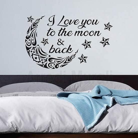 Adesivi murali decorazione pareti camere da letto nero