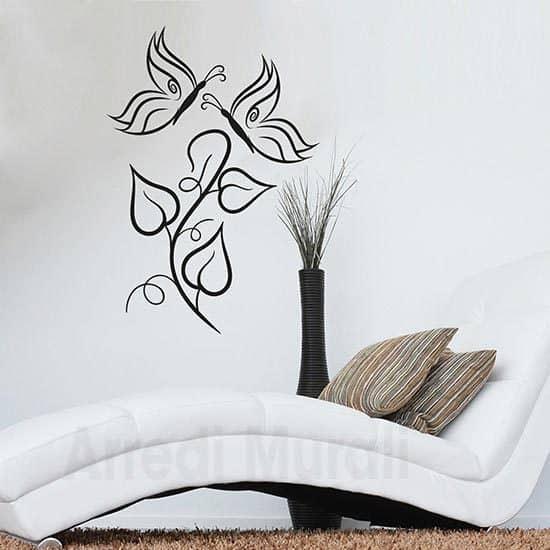 Adesivi murali farfalle decorative nero
