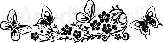 Adesivi murali fiori decorativi con farfalle come li riceverai