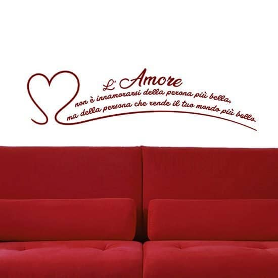 Adesivi murali frase l'amore non è rosso