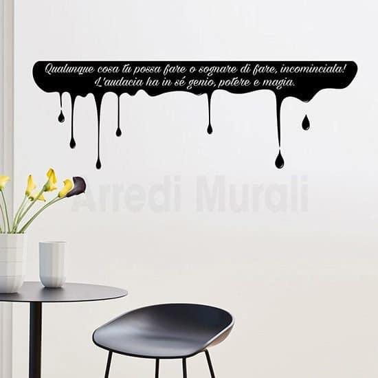 Adesivi murali scritta personalizzata nero