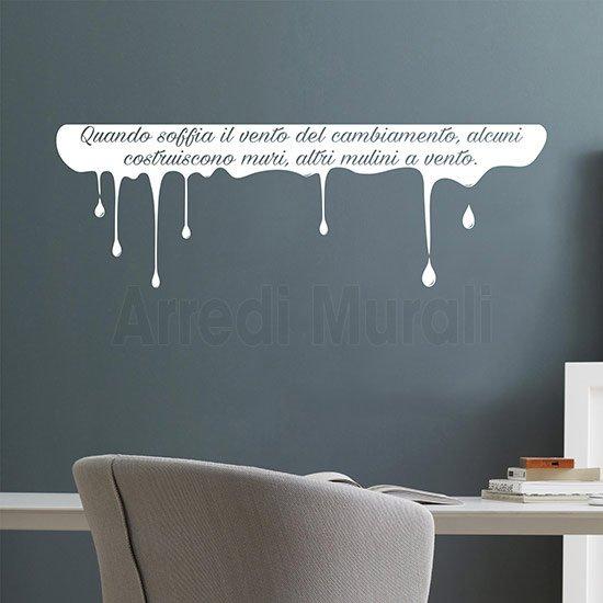 Adesivi murali scritta personalizzata bianco