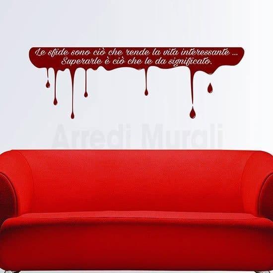 Adesivi murali scritta personalizzata rosso