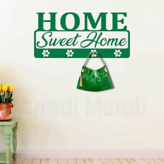 Appendiabiti da parete stickers murali verde