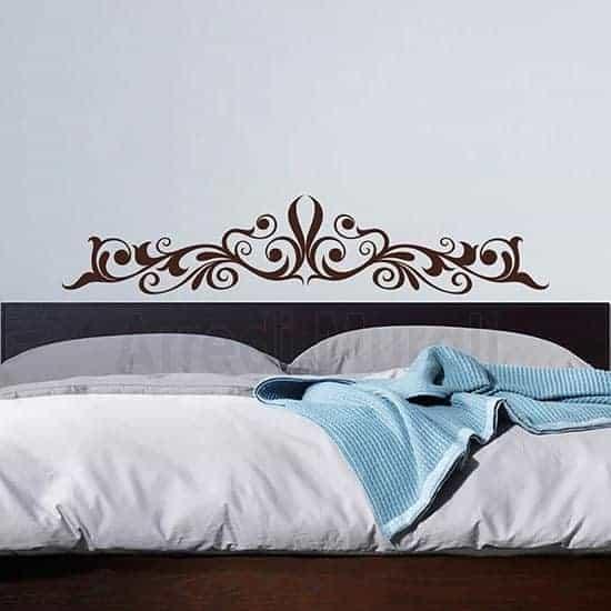 Decorazione pareti camere da letto marrone