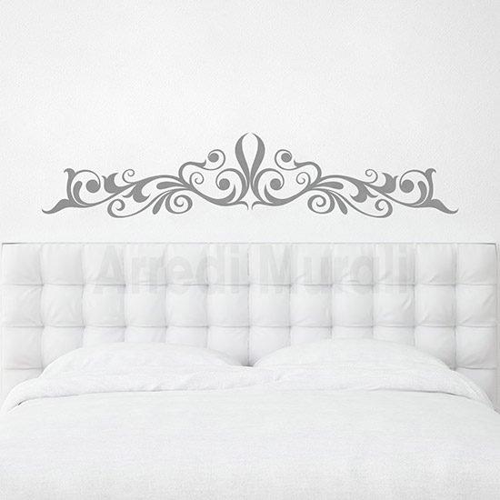 Decorazione pareti camere da letto argento