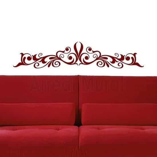 Decorazione pareti camere da letto rosso