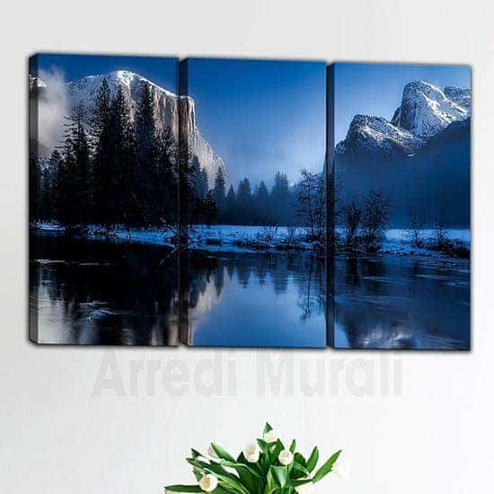 Quadri moderni paesaggio di montagna 3 tele