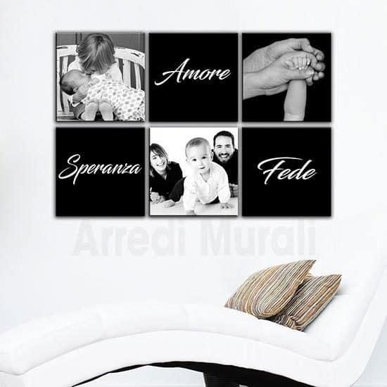 Quadri moderni personalizzati con le tue foto 6 tele con 3 foto