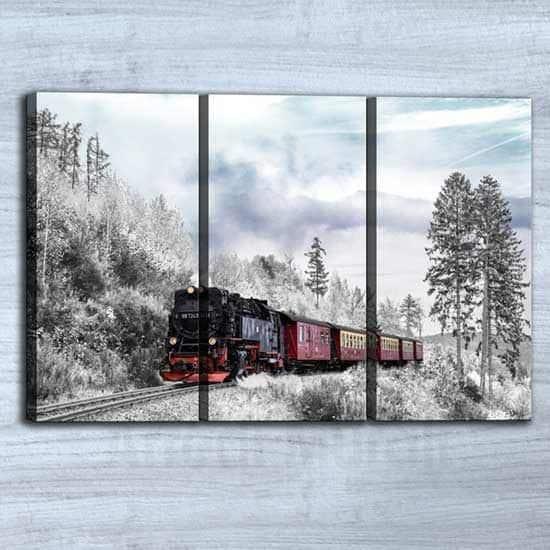 Quadri paesaggio vintage 3 stampe su tela