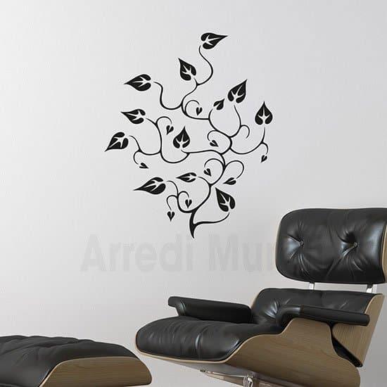Stickers murali floreali nero