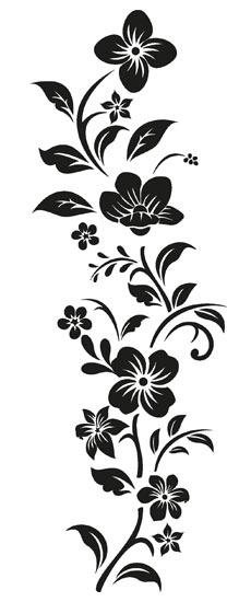 Adesivi murali decorazioni floreali nere per interni