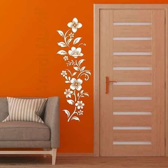 Adesivi murali decorazioni floreali bianchi per interni