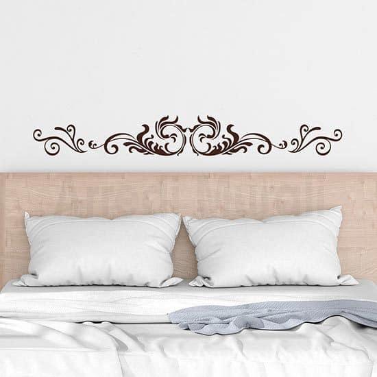 Decorazioni adesive testata letto marrone