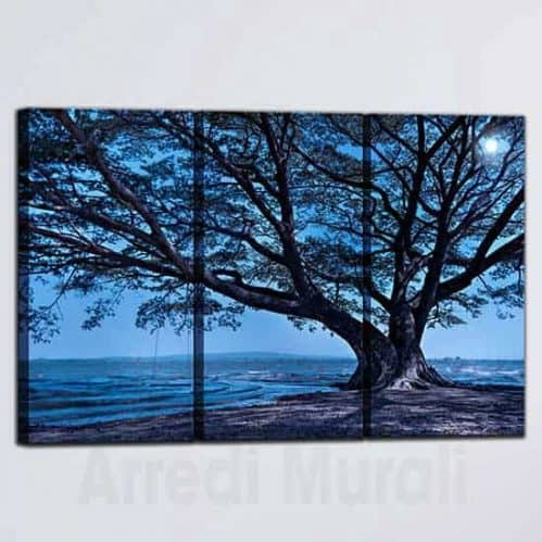 Quadri paesaggio naturale stampa su 3 tele medie