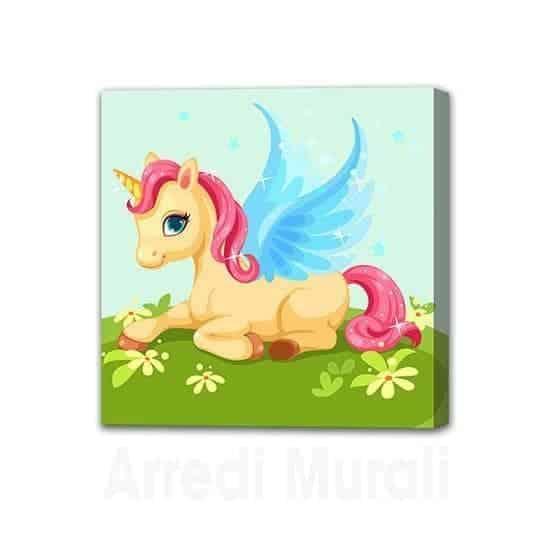 Quadro unicorno per cameretta bambina