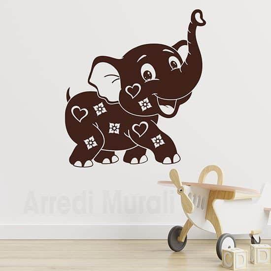 Adesivi murali per bambini elefantino per arredare la cameretta
