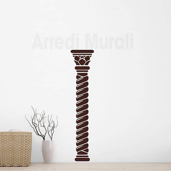 Adesivi murali colonna arredo decorazioni per pareti marroni