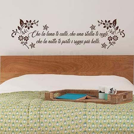 Adesivi murali per camera da letto marrone
