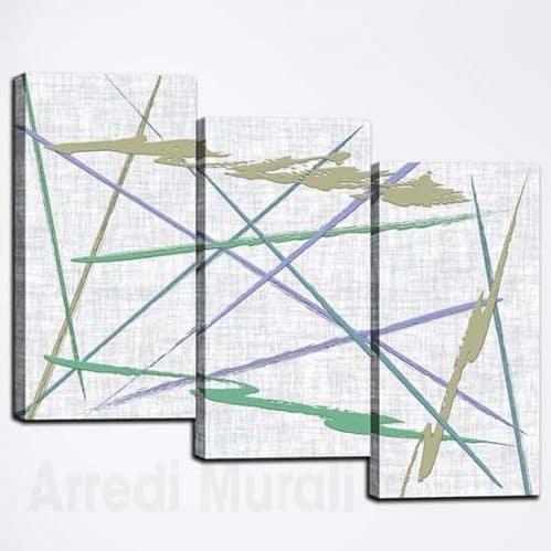 Quadri astratti tris di stampe moderne su tela, idee per decorar