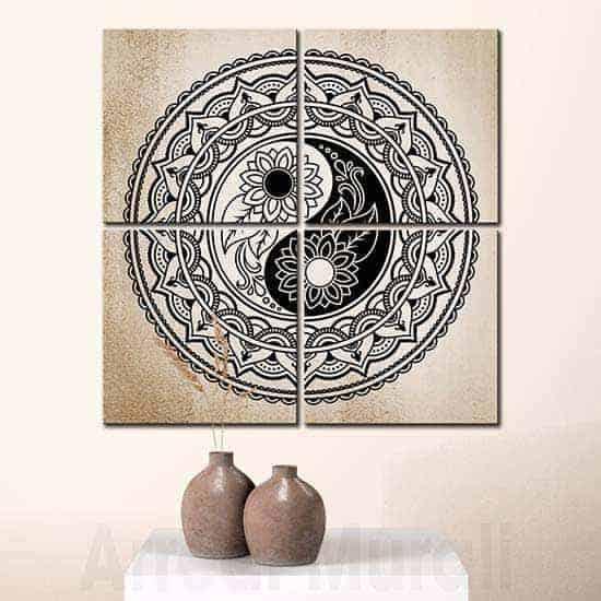 Quadri moderni yin yang arredamento Feng Shui