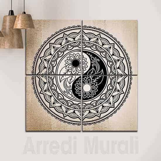 Quadri moderni yin yang arredamento Feng Shui moderno