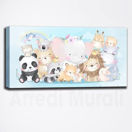 Quadro moderno per bambini con animaletti