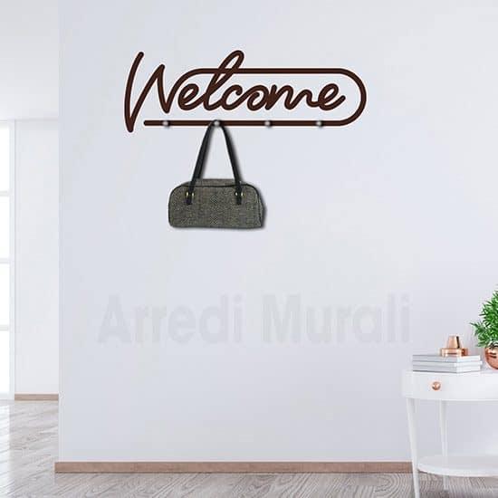 Adesivi murali appendiabiti welcome