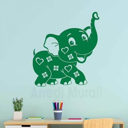 Adesivi murali per bambini elefantino