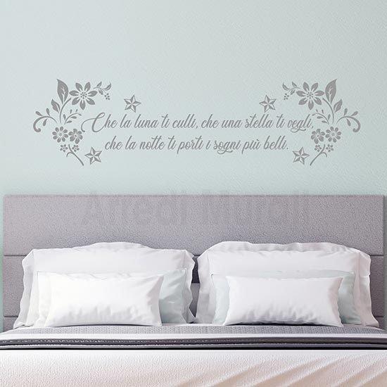 Adesivi murali per camera da letto argento