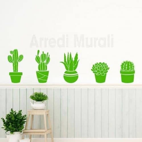 Adesivi murali piante grasse decorazioni da parete per interni