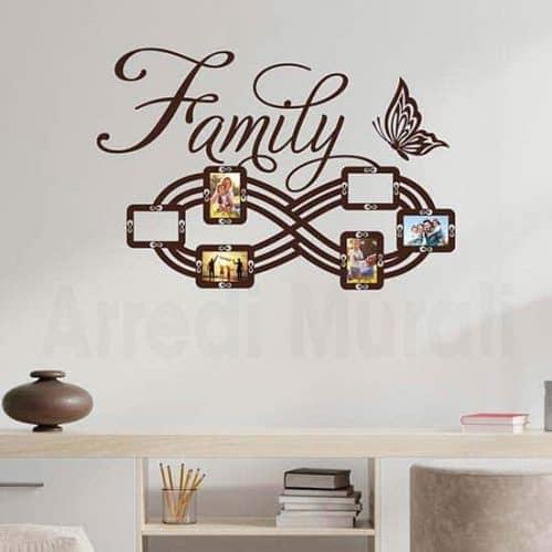 Adesivi murali cornici famiglia, decorazioni adesive da parete
