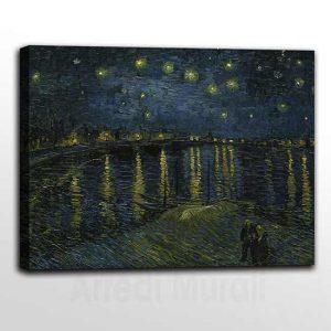 Quadri famosi Notte stellata sul Rodano di Van Gogh
