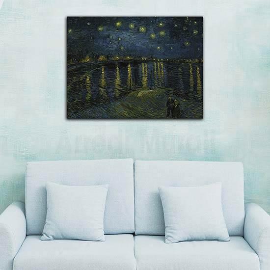 Quadri famosi Notte stellata sul Rodano