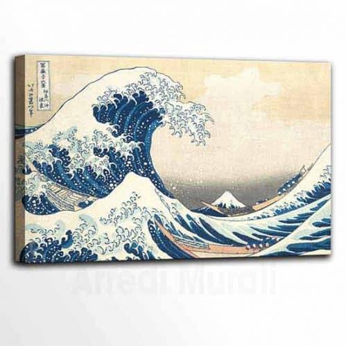 Quadri famosi tsunami di Hokusai, stampa su tela