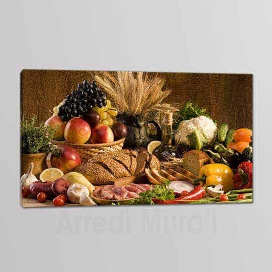 quadro su tela per la cucina cibo