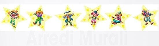 6 adesivi per bambini clowns murali