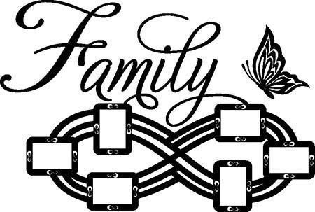 Adesivi murali cornici famiglia per foto