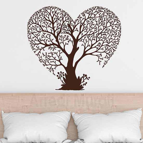 Adesivi da parete albero love, decorazione murale